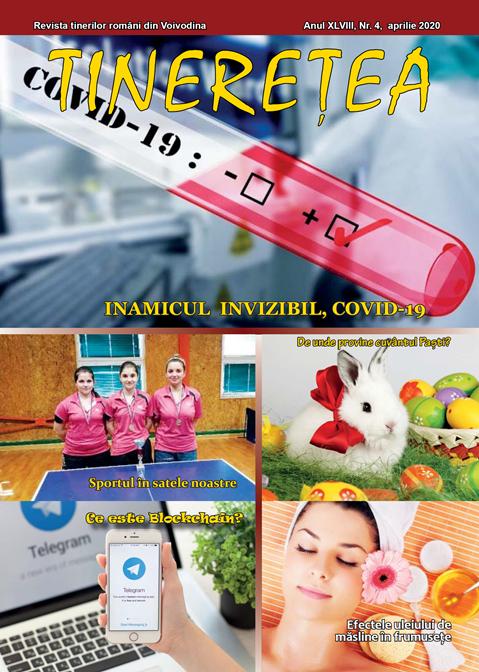 """Numărul de aprilie al revistei """"Tinereţea"""""""