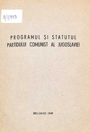 Programul și Statutul Partidului Comunist al Jugoslaviei