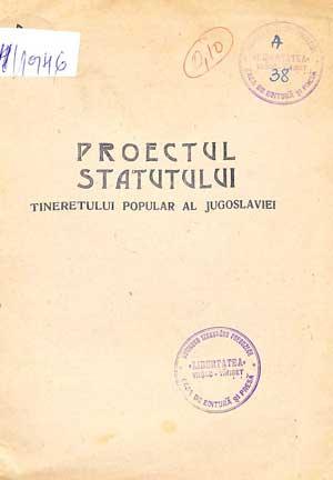 Proiectul Statutului Tineretului Popular al Jugoslaviei