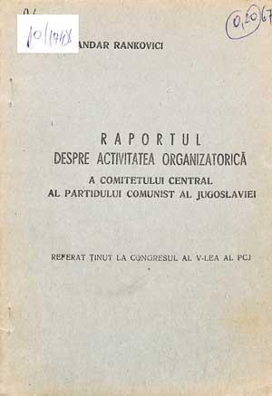 Raportul despre activitatea organizatorică a PCJ