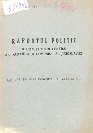 Raportul politic al PCJ