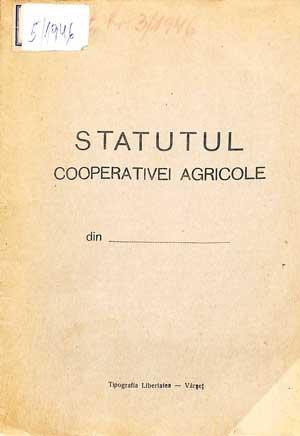 Statutul Cooperativei Agricole