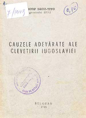 Cauzele adevărate ale clevetirii Iugoslaviei