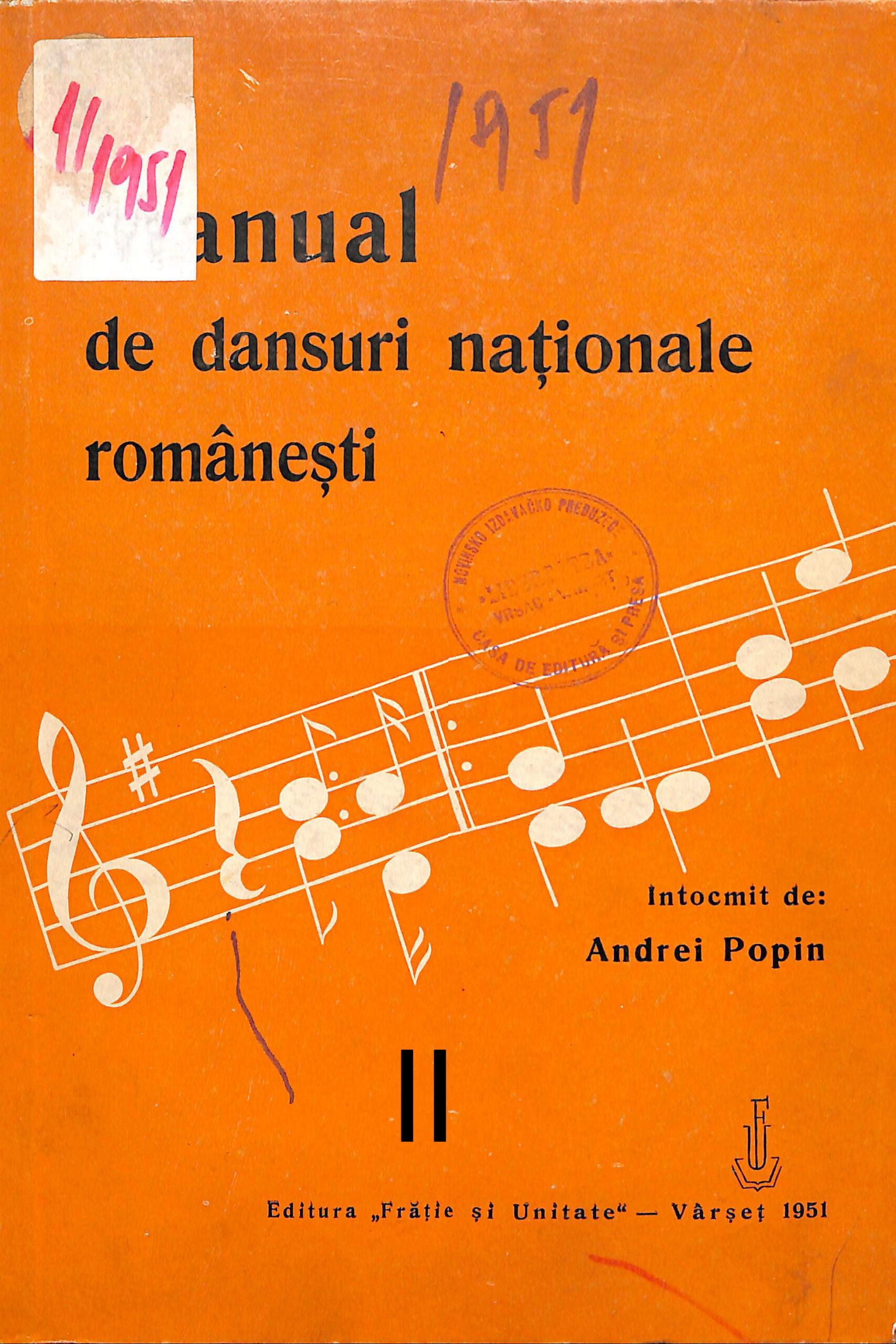 Manual de dansuri naţionale româneşti II
