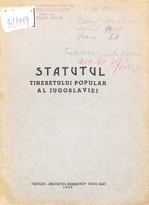Statutul Tineretului Popular al Jugoslaviei