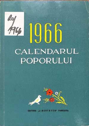 Calendarul poporului 1966