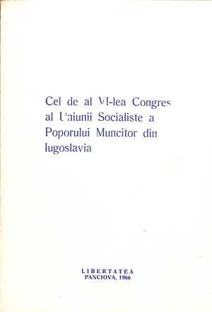 Cel de al Vl-lea Congres al Uniunii Socialiste a Poporului Muncitor din Iugoslavia