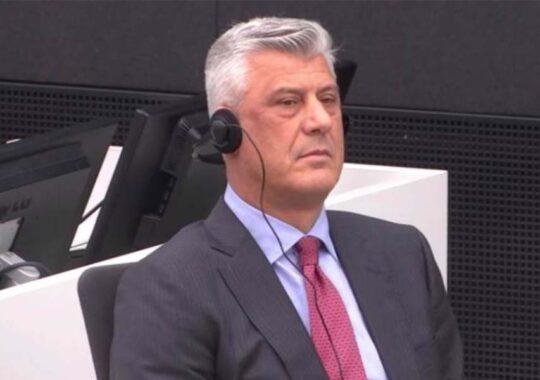 Hashim Thaci în fața Curții Speciale de la Haga
