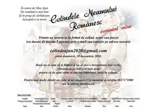 Eveniment online- Colindele Neamului Românesc
