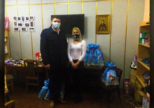 Primarul Panciovei a înmânat cadouri copiilor de la Asociația Persoanelor cu Dizabilități Mintale