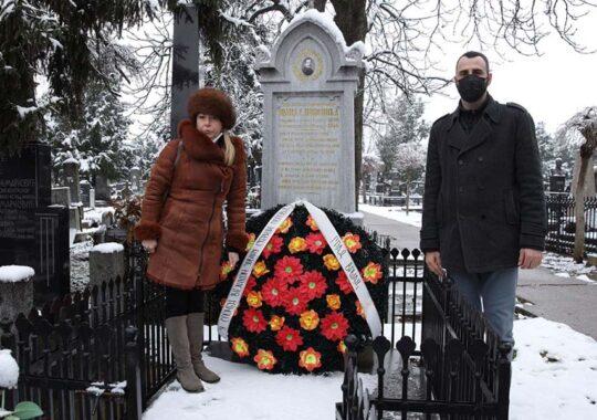 La mormântul lui Jovan Sterija Popović a fost depusă o coroană de flori