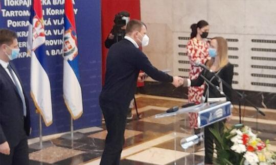 Dragana Mitrović a semnat contractul cu guvernul provincial