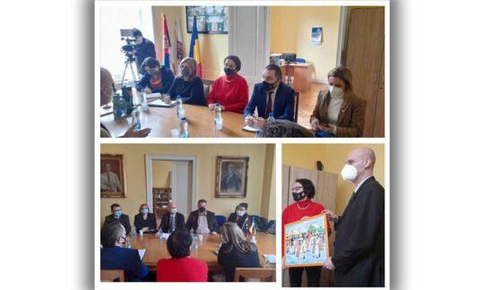 Ministrul Gordana Čomić a vizitat Consiliul Național Al Minorității Naționale Române la Vârșeț