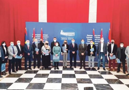 Pentru cofinanţarea activităţilor consiliilor naţionale – 61,6 milioane  dinari
