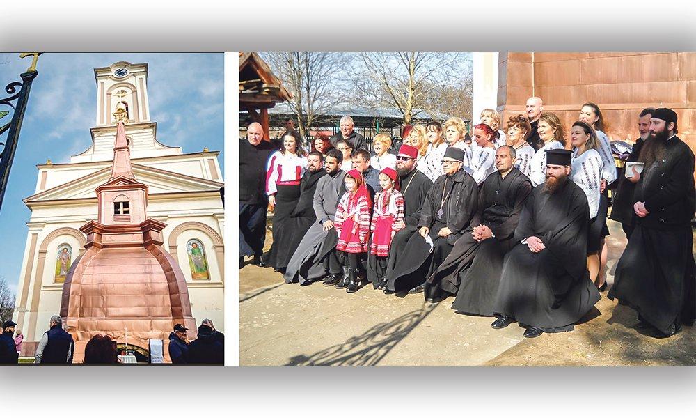 Slujba de sfințire a Sfintei Cruci la Biserica Ortodoxă Română din Petrovasâla