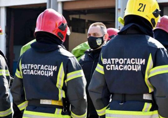 Vulin a urmărit simularea pompierilor