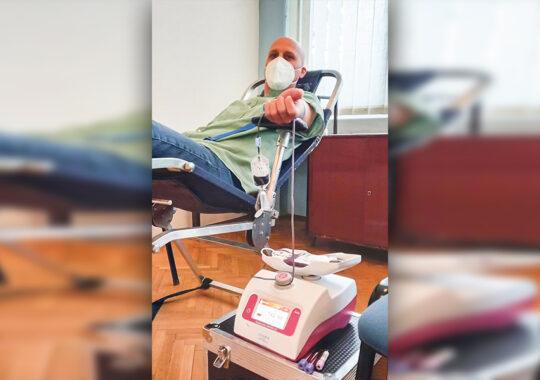 Acțiunea de donare de sânge la Covăcița