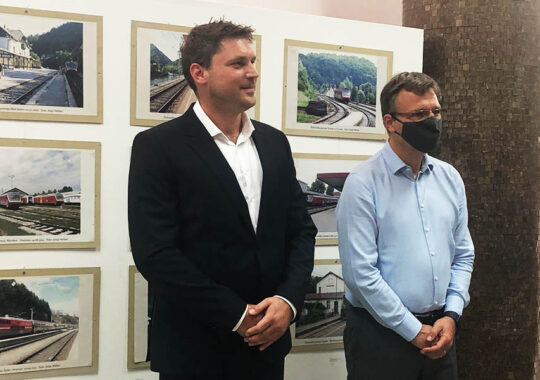 Expoziție de fotografii a căilor ferate care reprezintă Slovenia