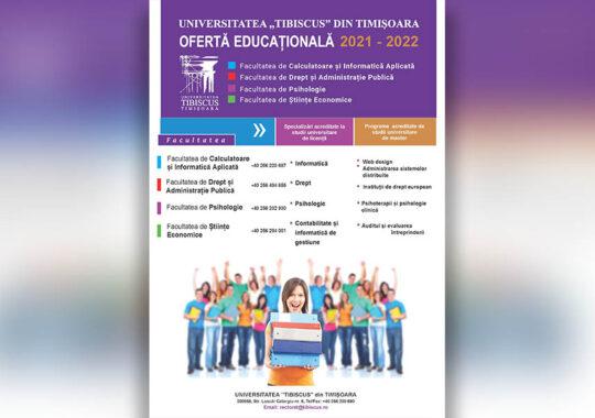 De ce Universitatea Tibiscus din Timișoara?