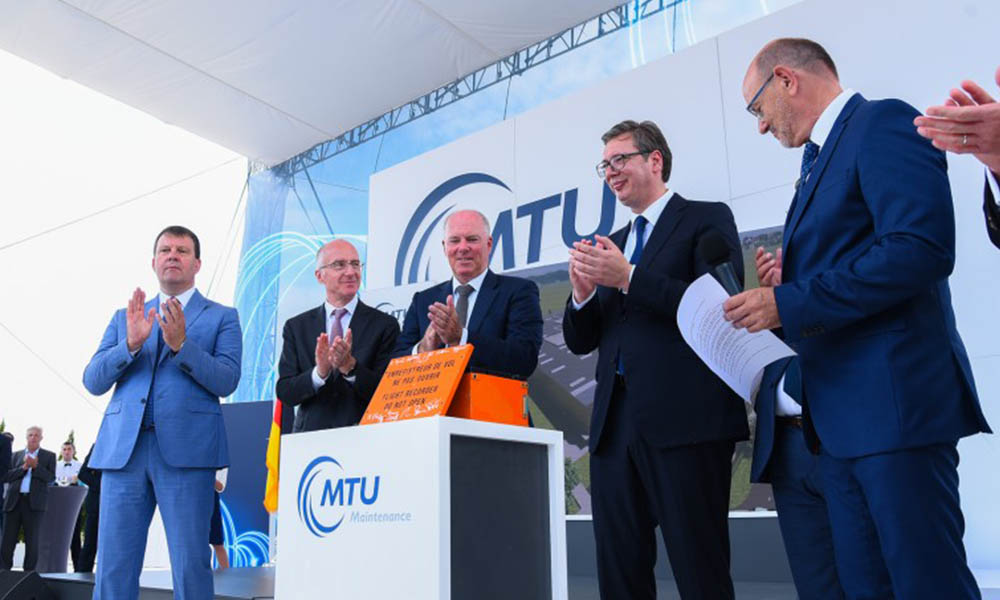 A început construirea uzinei companiei MTU Maintenance Serbia