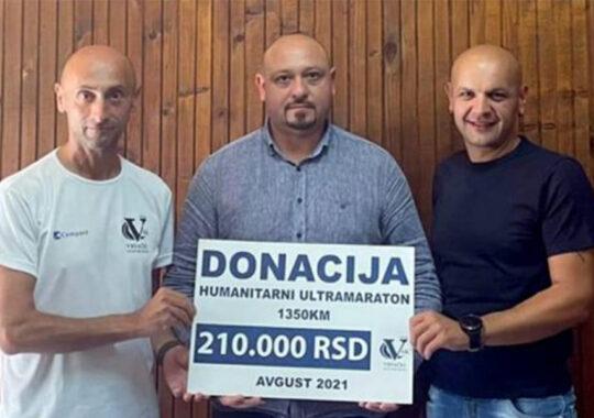 Sebastian Sava a donat banii colectați în cadrul ultramaratonului