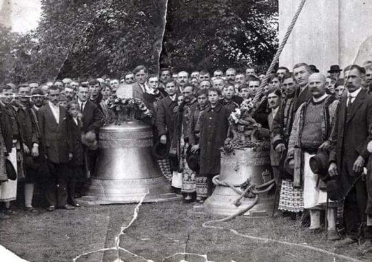 Sfințirea clopotelor B.O.R. din Petrovasâla în anul 1924