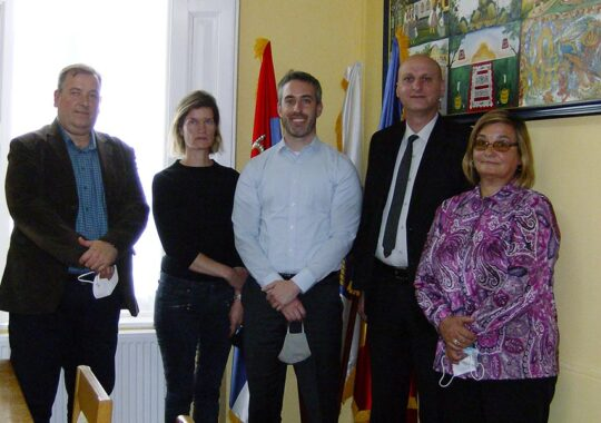 Reprezentanții Ambasadei S.U.A. în vizită la Consiliul Național al Minorității Române din Serbia